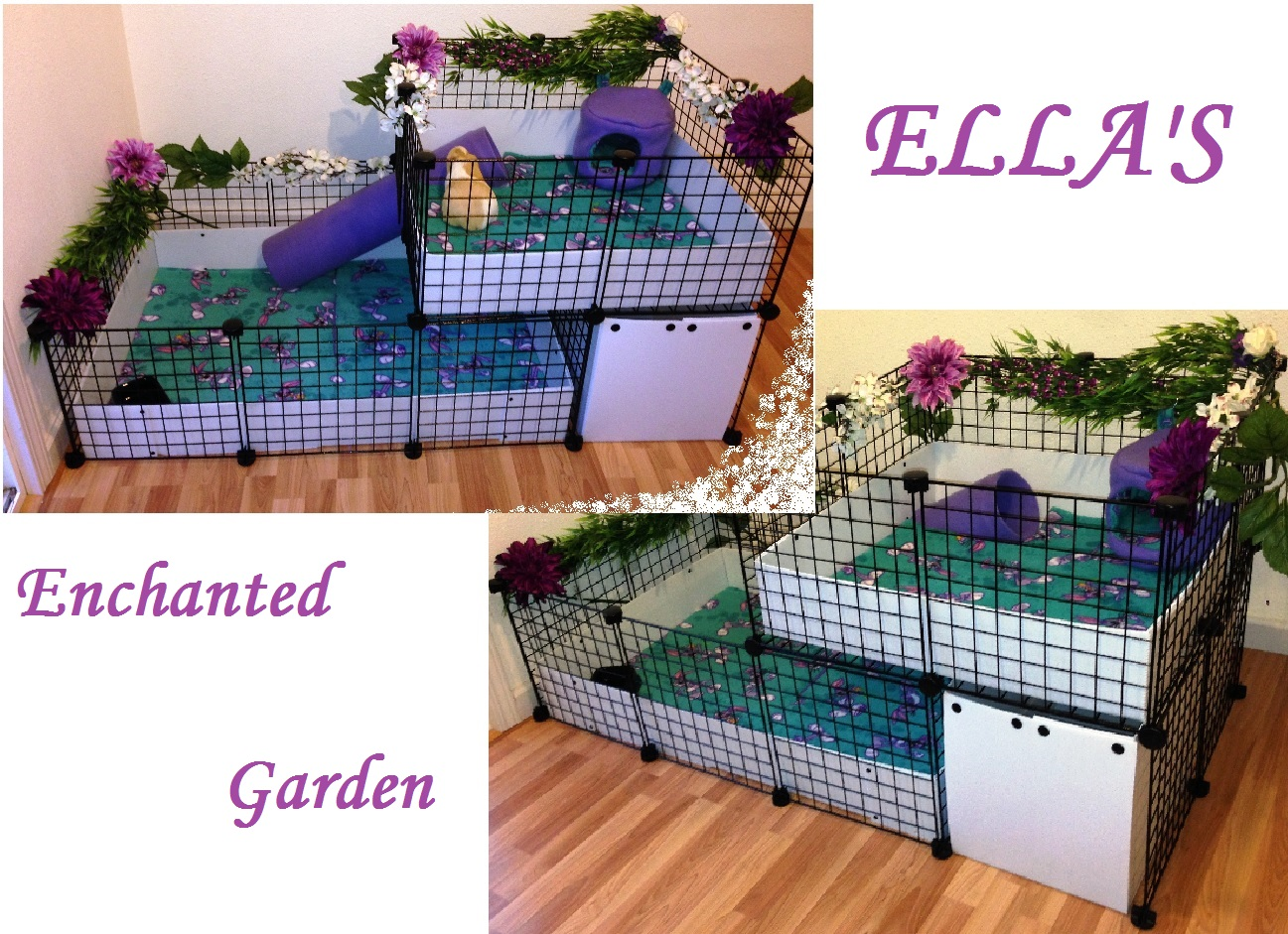 Features: 2-Story Cage with Storage Bin, Fleece Covered Bottom Inserts ...